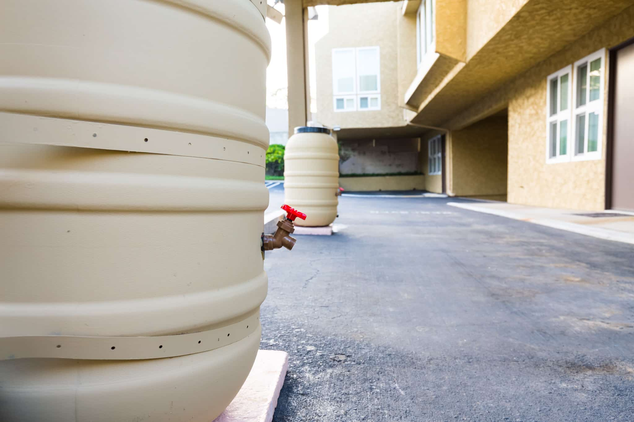 Castle Breckenridge Management, sustainability practices - rain harvest barrels